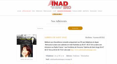 Adhérente INAD DEPUIS 2014